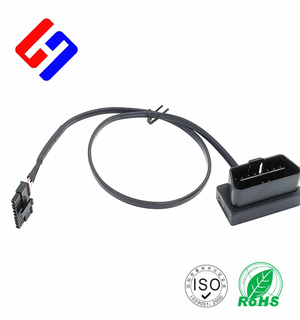 OBDII 16P J1962 Male to Molex3.0 1*5P Male GPS tracking flat cable