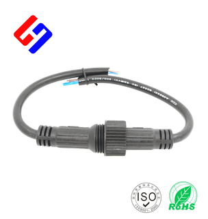 Four inner wire M19 Metal Waterproof Cable. Airspace Connector. LED lighting Waterproof Cable.