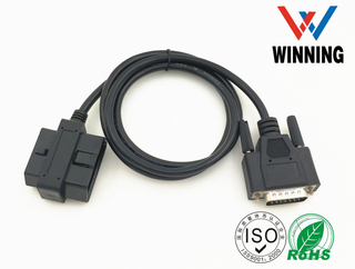 OBDII 16P J1962 M+F TO D-USB 15P M . Vehical Inspection Cable
