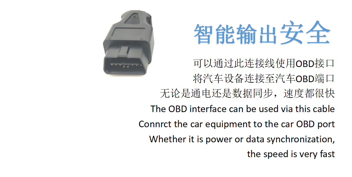 OBDII 16P J1962 M TO D-USB 9P M Cable