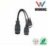 OBDII 16P J1962 Male to OBDII 16P J1962 Female + D-SUB 15P Male. Vehical Inspection Cable