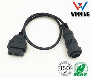 OBDII 16P J1962 Female to BENZ 38P Female Connector cable
