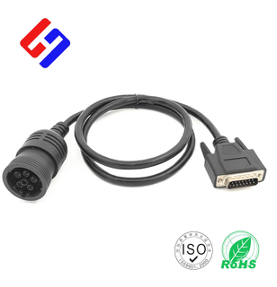 Deutsch J1708 6P Male to DB15 Male, Truck Inspection Cable